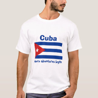 Cuba Flag + Map + Text T-Shirt