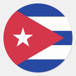 Cuba Flag Round Stickers