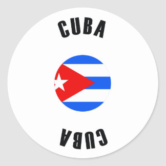 Cuba Flag Simple Classic Round Sticker