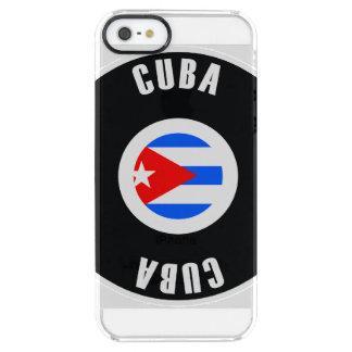 Cuba Flag Simple Clear iPhone SE/5/5s Case