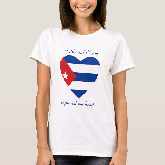 Cuba Flag Sweetheart T-Shirt