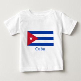 Cuba Flag with Name Baby T-Shirt