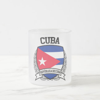Cuba Frosted Glass Coffee Mug