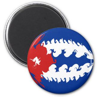 Cuba Gnarly Flag Refrigerator Magnet