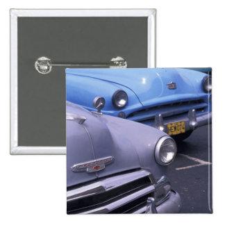 Cuba, Havana. Classic 1950's autos 15 Cm Square Badge