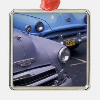 Cuba, Havana. Classic 1950's autos Christmas Ornament