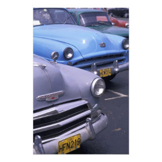 Cuba, Havana. Classic 1950's autos Photo Print