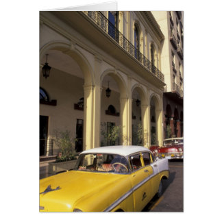 Cuba, Havana. Colorful Chevy's from the 1950's Card