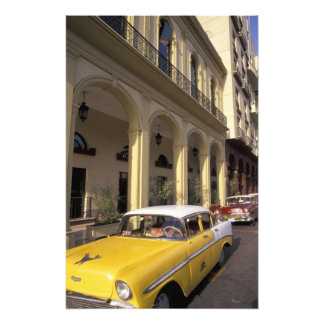 Cuba, Havana. Colorful Chevy's from the 1950's Photo Print