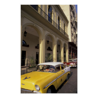 Cuba, Havana. Colorful Chevy's from the 1950's Poster