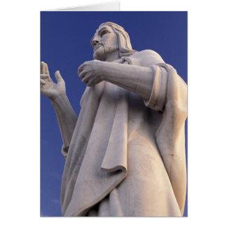 Cuba, Havana, Sculpture of Jesus. Card