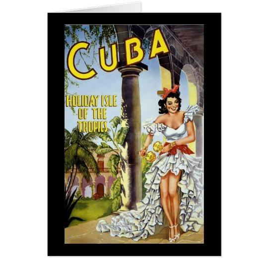 Cuba Holiday Isle Of The Tropics Card
