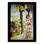 Cuba Holiday Isle Of The Tropics Greeting Card