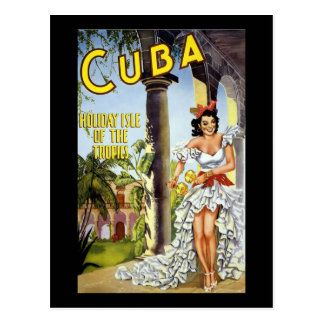 Cuba Holiday Isle Of The Tropics Postcard