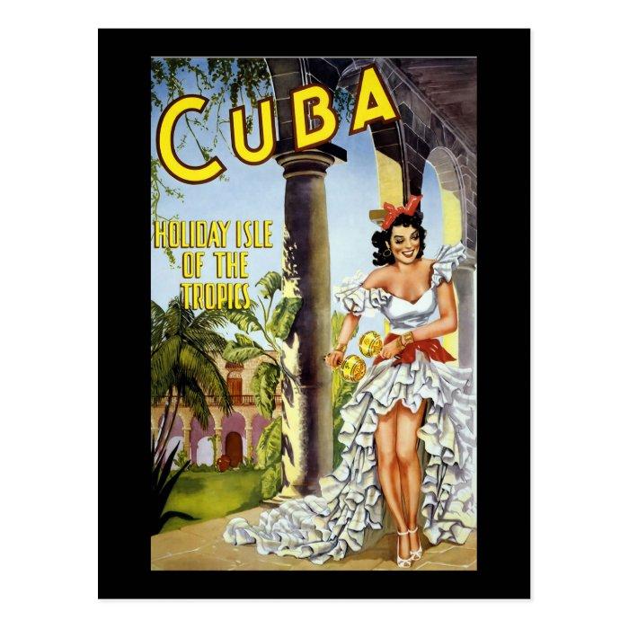 Cuba Holiday Isle Of The Tropics Postcard