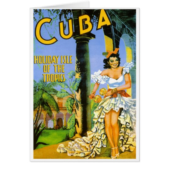 Cuba holiday isle of the tropics travel poster