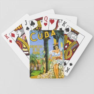 Cuba holiday isle of the tropics travel poster poker deck
