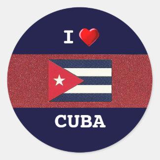 CUBA: I Love Cuba Round Sticker