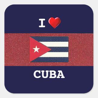 CUBA: I Love Cuba Square Sticker