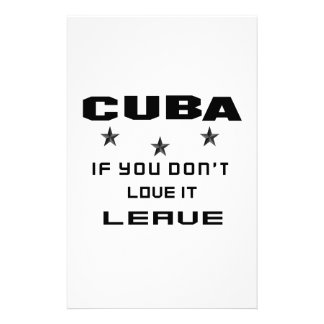 Cuba If you don't love it, Leave Customised Stationery
