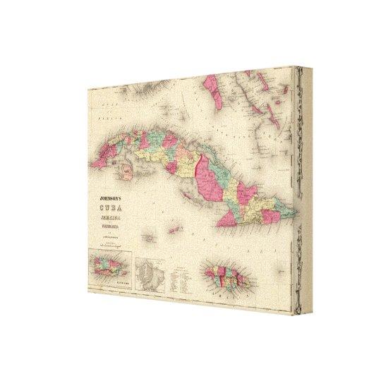 Cuba, Jamaica, and Porto Rico Canvas Print
