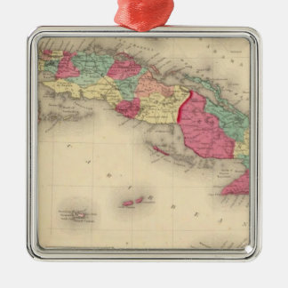 Cuba, Jamaica, and Porto Rico Christmas Ornament