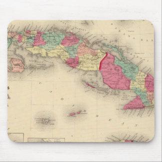 Cuba, Jamaica, and Porto Rico Mouse Mat
