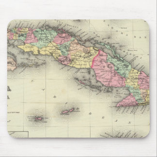 Cuba, Jamaica And Puerto Rico Mouse Mat
