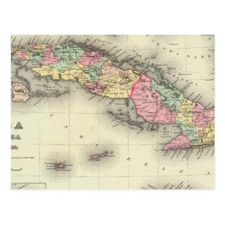 Cuba, Jamaica And Puerto Rico Postcard