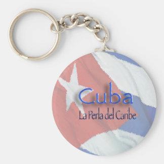 CUBA - La Perla del Caribe Basic Round Button Key Ring