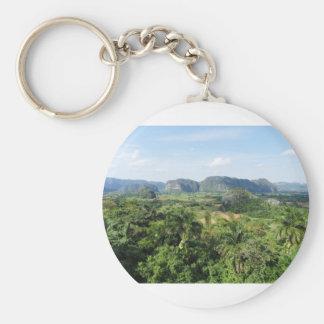 Cuba landscape key ring