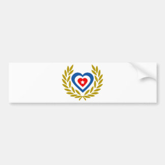 cuba-laurel-heart bumper sticker