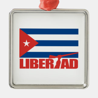 Cuba -Libertad Christmas Ornament