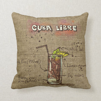 Cuba Libre/Caipirinha Recipe Cushion