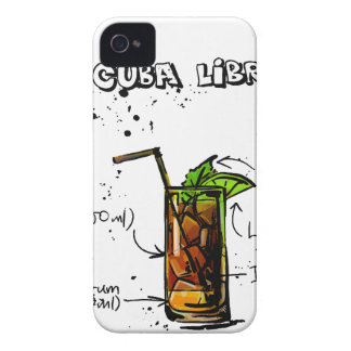 Cuba Libre Cocktail iPhone 4 Cases