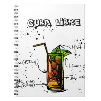 Cuba Libre Cocktail Notebook