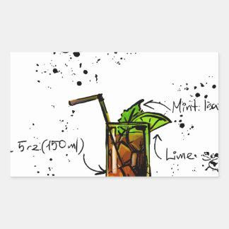 Cuba Libre Cocktail Rectangular Sticker