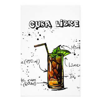 Cuba Libre Cocktail Stationery