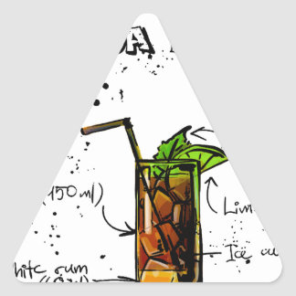 Cuba Libre Cocktail Triangle Sticker