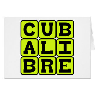 Cuba Libre, Highball Cocktail Greeting Card
