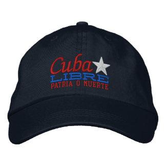 Cuba Libre Motto Embroidery Baseball Cap