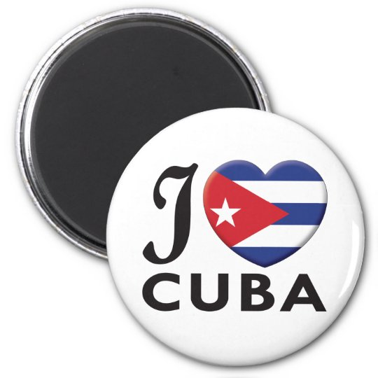 Cuba Love 6 Cm Round Magnet