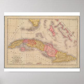 Cuba Map 1897 Poster