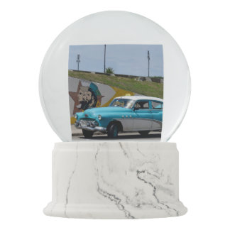 Cuba Old Car by Road Art Snow Globes