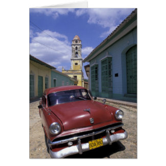 Cuba, old colonial village of Trinidad. Card