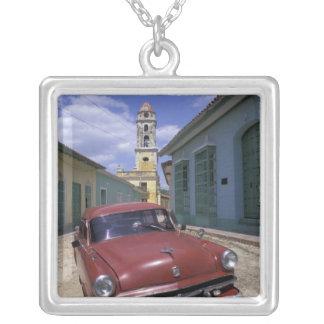 Cuba, old colonial village of Trinidad. Silver Plated Necklace