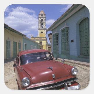 Cuba, old colonial village of Trinidad. Square Sticker