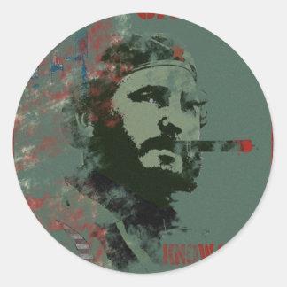 Cuba Propaganda Castro Classic Round Sticker