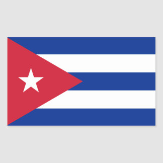 cuba rectangular sticker