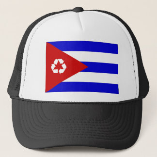 Cuba recycle flag hat